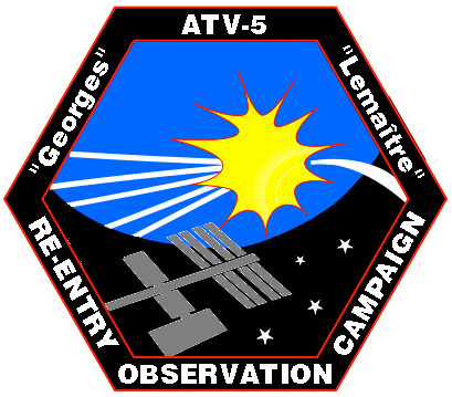 Space patch official ESA Automated Transfer Vehicle ATV-5 patch Georges Lemaître
